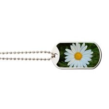 White Daisy Dog Tags