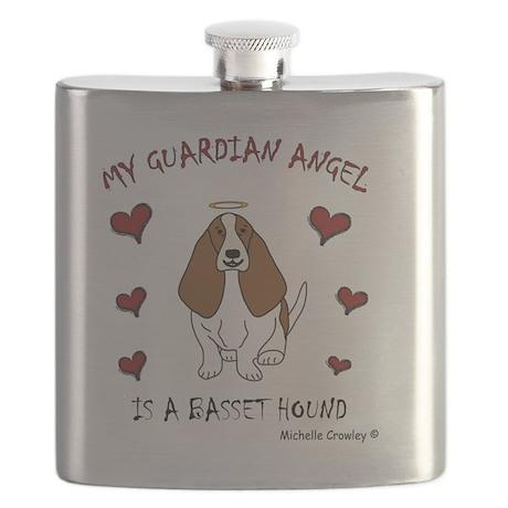BassetHoundTan Flask