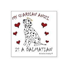 """Dalmatian Square Sticker 3"""" x 3"""""""