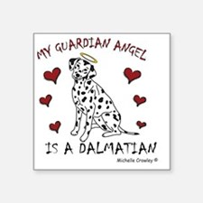 "Dalmatian Square Sticker 3"" x 3"""