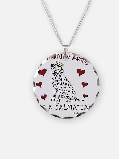 Dalmatian Necklace Circle Charm