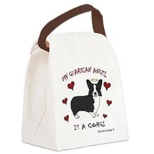 CorgiBlk Canvas Lunch Bag