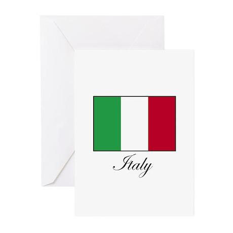 Italy - Italian Flag Greeting Cards (Pk of 10)