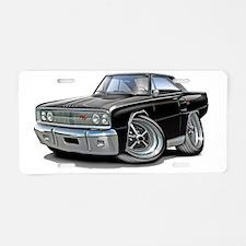 1967 Coronet RT Black Car Aluminum License Plate