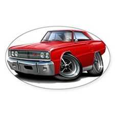 1967 Coronet RT Red Car Decal