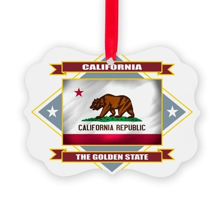 California diamond Picture Ornament