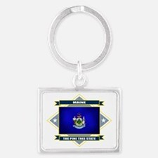 Maine diamond Landscape Keychain