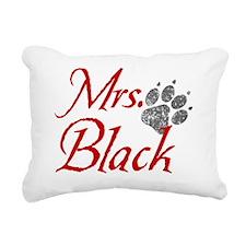 mrs-black-distress Rectangular Canvas Pillow