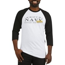 Proud Navy Sister (gold) Baseball Jersey