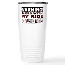 4-WARNING MESS WITH MY RIDE STI Travel Mug
