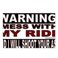 4-WARNING MESS WITH MY RI Postcards (Package of 8)