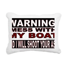 WARNING MESS WITH MY BOA Rectangular Canvas Pillow