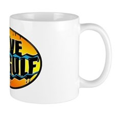 Save the Gulf sunset oval 3x5 Mug