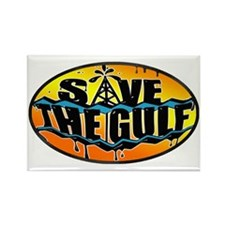 Save the Gulf sunset oval 3x5 Rectangle Magnet