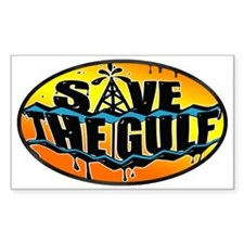 Save the Gulf sunset oval 3x5 Decal