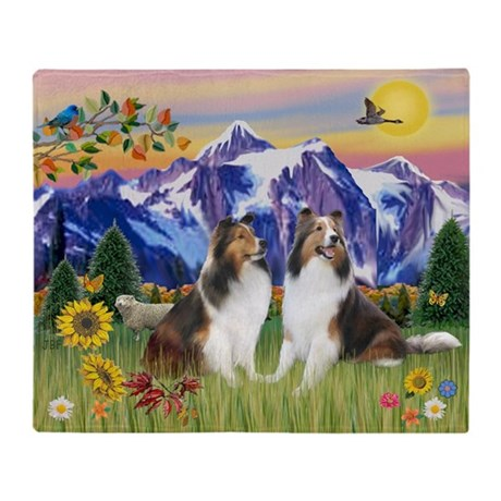 MP-Mt Country - 2 Shelties Throw Blanket