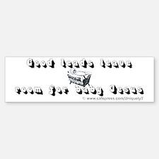 baby-jesus-leads_wh Bumper Bumper Sticker