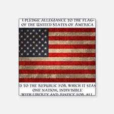 "flag-pledge-LTT Square Sticker 3"" x 3"""