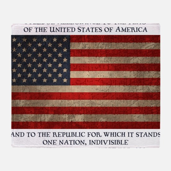 flag-pledge-LTT Throw Blanket