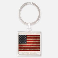 flag-pledge-DKT Square Keychain