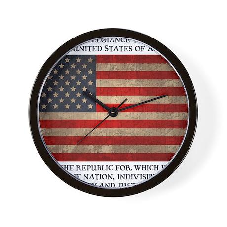 flag-pledge-LTT Wall Clock