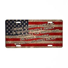 flag-pledge-CRD Aluminum License Plate