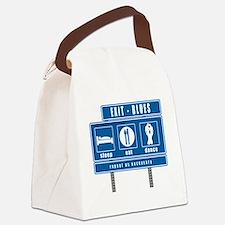 sleep-eat-dance-highway-blu Canvas Lunch Bag