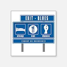 "sleep-eat-dance-highway-blu Square Sticker 3"" x 3"""