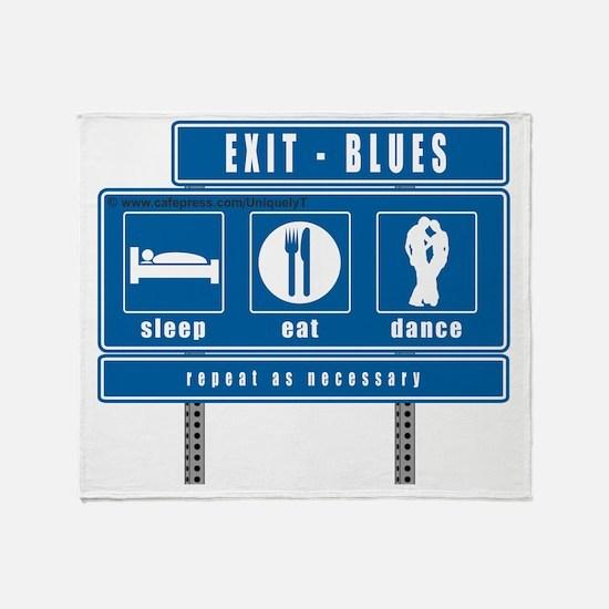 sleep-eat-dance-highway-blu Throw Blanket