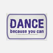 Dance_rect_stick_LG Rectangle Magnet