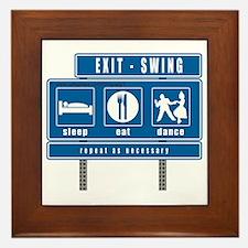 2-sleep-eat-dance-highway-swi Framed Tile