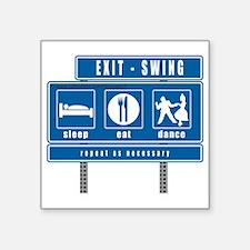 "2-sleep-eat-dance-highway-s Square Sticker 3"" x 3"""