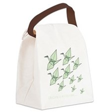 Increasing10x10-Blk Canvas Lunch Bag