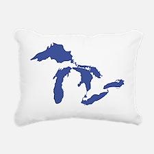 Great_Lakes_Drk_Blu_15.3 Rectangular Canvas Pillow
