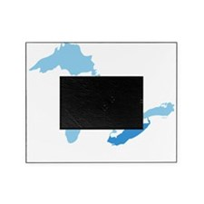 Great_Lakes_With_Lake_Erie_15.35_x_1 Picture Frame