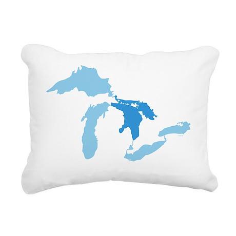Great_Lakes_With_Lake_Hu Rectangular Canvas Pillow