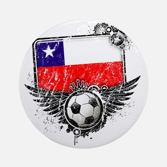 Soccer fan Chile Round Ornament