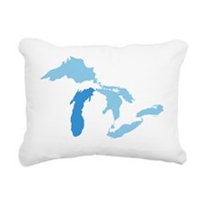Great_Lakes_With_Lake_Mi Rectangular Canvas Pillow