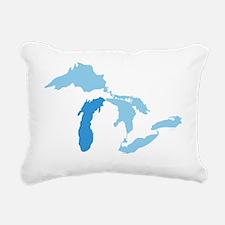 Great_Lakes_With_Lake_Mi Rectangular Canvas Pillow