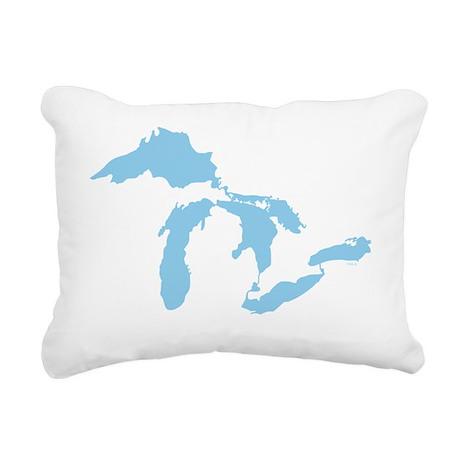 Great_Lakes_Med_Blu_15.3 Rectangular Canvas Pillow