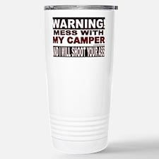 WARNING MESS WITH MY CAMPER STI Travel Mug