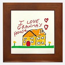 I Love Granma's house Framed Tile