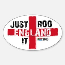 England Shirt Just Roo It Sticker (Oval)