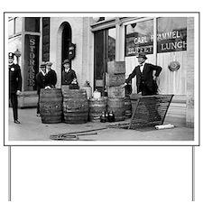 Bootleg Liquor Raid Yard Sign