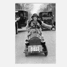 Flapper Driving Pedal Car Postcards (Package of 8)