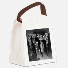We Want Beer! Prohibition Protest Canvas Lunch Bag