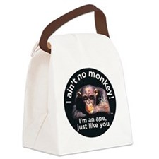 2-aint no monkey Canvas Lunch Bag