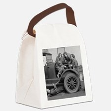 Young Lady Auto Mechanics Canvas Lunch Bag