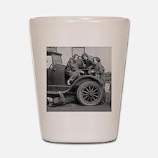 Young Lady Auto Mechanics Shot Glass