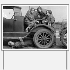 Young Lady Auto Mechanics Yard Sign